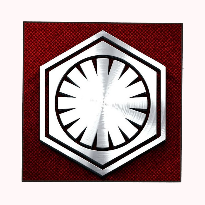 The First Order Logo Star Wars Wooden Wall Plaque