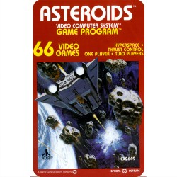 ASTEROIDS (ATARI 2600) GAME...