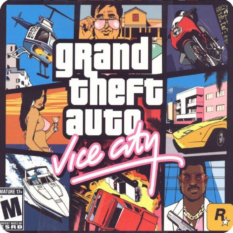 GRAND THEFT AUTO VICE CITY (PLAYSTATION) GAME COVER FRIDGE ...