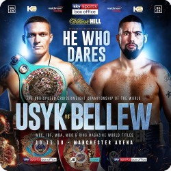 USYK V BELLEW FIGHT POSTER...