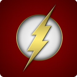 THE FLASH (LOGO) WOODEN...