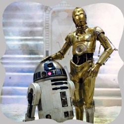 R2D2 AND C3PO (STAR WARS)...