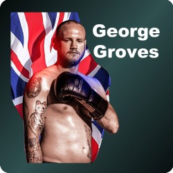 GEORGE GROVES WOODEN COASTER