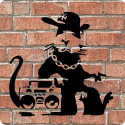 HIP HOP RAT (BANKSY) WOODEN...