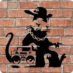 HIP HOP RAT (BANKSY) WOODEN...