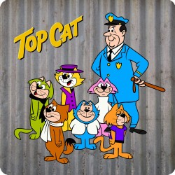 TOP CAT WOODEN COASTER
