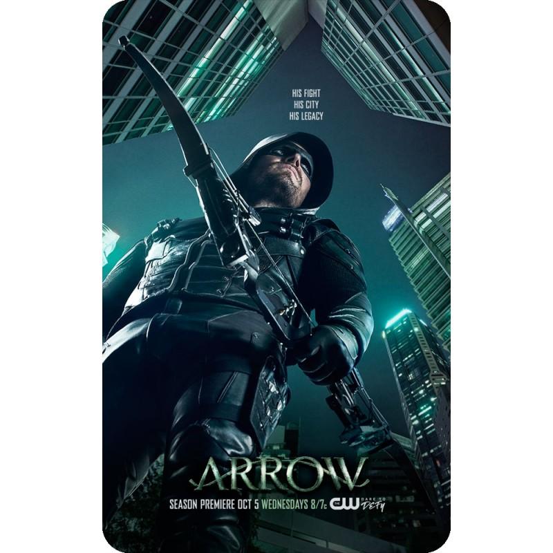 Arrow season 5 tv poster on a fridge magnet