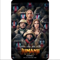 Film Poster for Jumanji Next Level on a fridge magnet