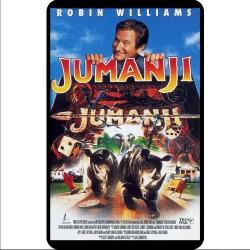 Film Poster for Jumanji on a fridge magnet
