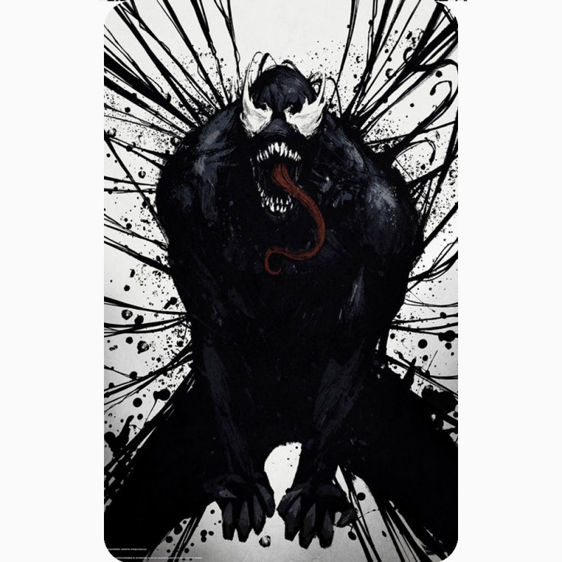 VENOM (PAINT MOVIE POSTER) FRIDGE MAGNET