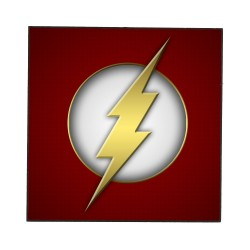 FLASH (DC) WOODEN WALL PLAQUE