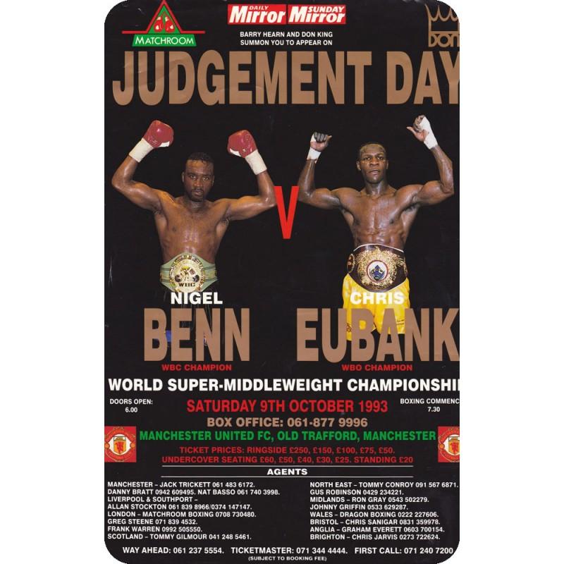 Nigel Benn Great New Boxing Poster